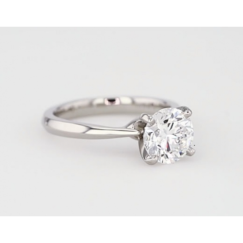 1 Ct SI2 F Tapered Bow Style Round Solitaire Diamond Engagement Ring 18K- Gold