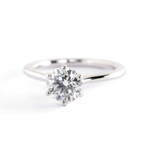GIA Cert 0.70 Ct SI2 D Petite Round Solitaire Diamond Engagement Ring Platinum