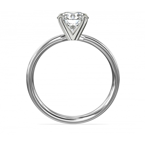 1 Ct SI2 D Comfort Fit Round Solitaire Diamond Engagement Ring 18K-White Gold