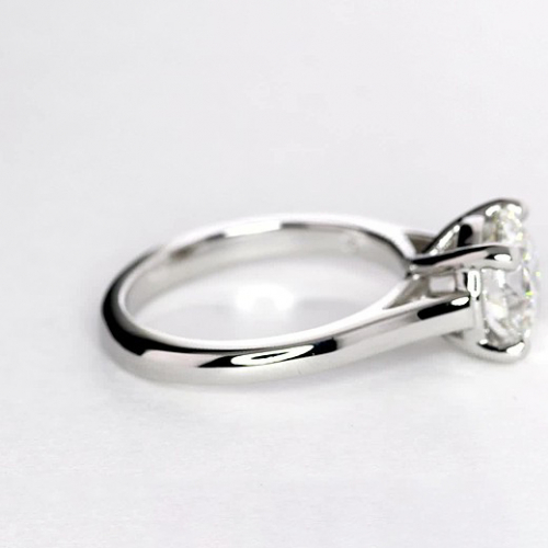 1.50 Cts SI2 D Cross Prongs Round Solitaire Diamond Engagement Ring 18K- Gold
