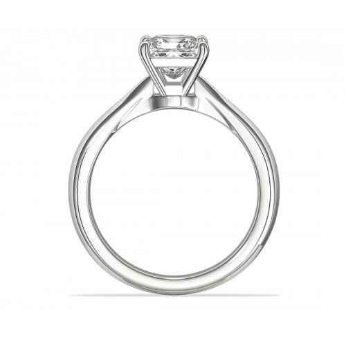 GIA0.50 Ct VS2 F Knife Edge PrincessSolitaire Diamond Engagement Ring Platinum