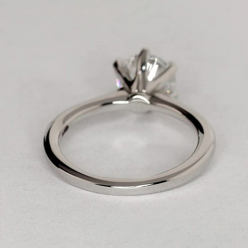 1.50 Carats SI2 G Petite Round Cut Solitaire Diamond Engagement Ring in 18K-White Gold